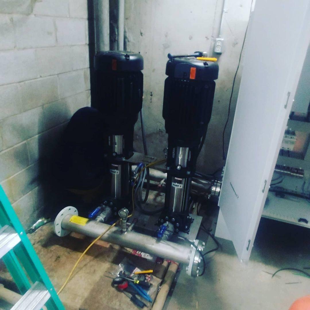 DHW Booster Pump VFD Install
