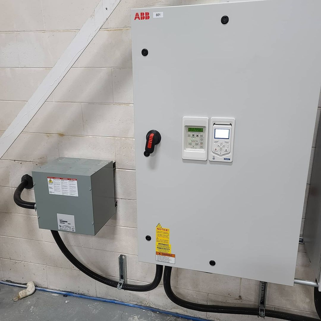 VFD Install on 125 HP Dust Collector